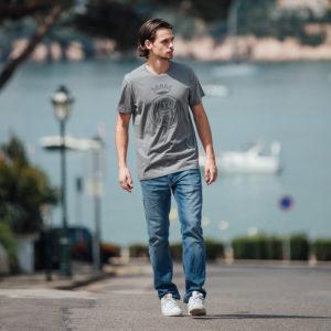 Samarreta Escut Girona FC gris fosc